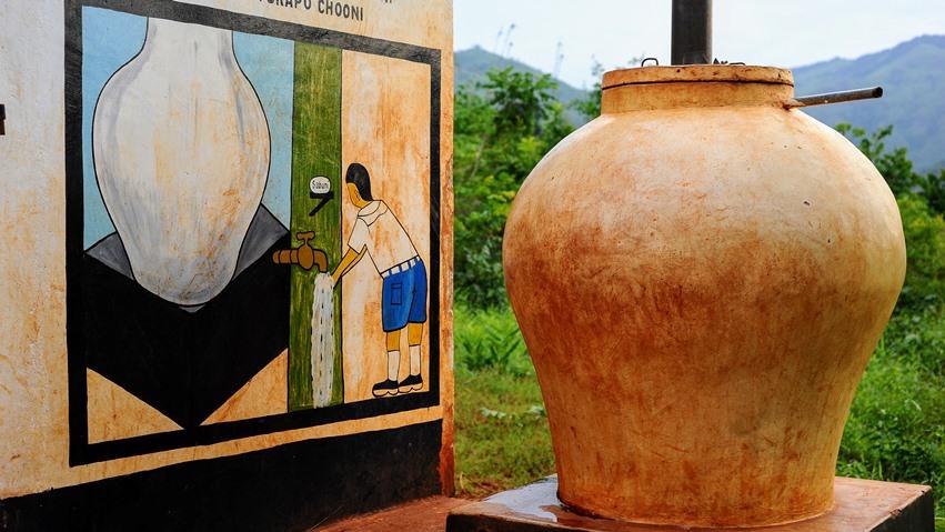 Kisanga, una cisterna per l'igiene delle mani